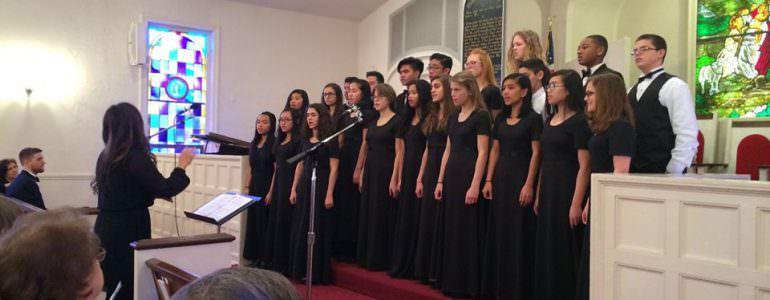 The Richmond Academy 7-12 Choir and Men's Chorus sang at the Patterson SDA Church